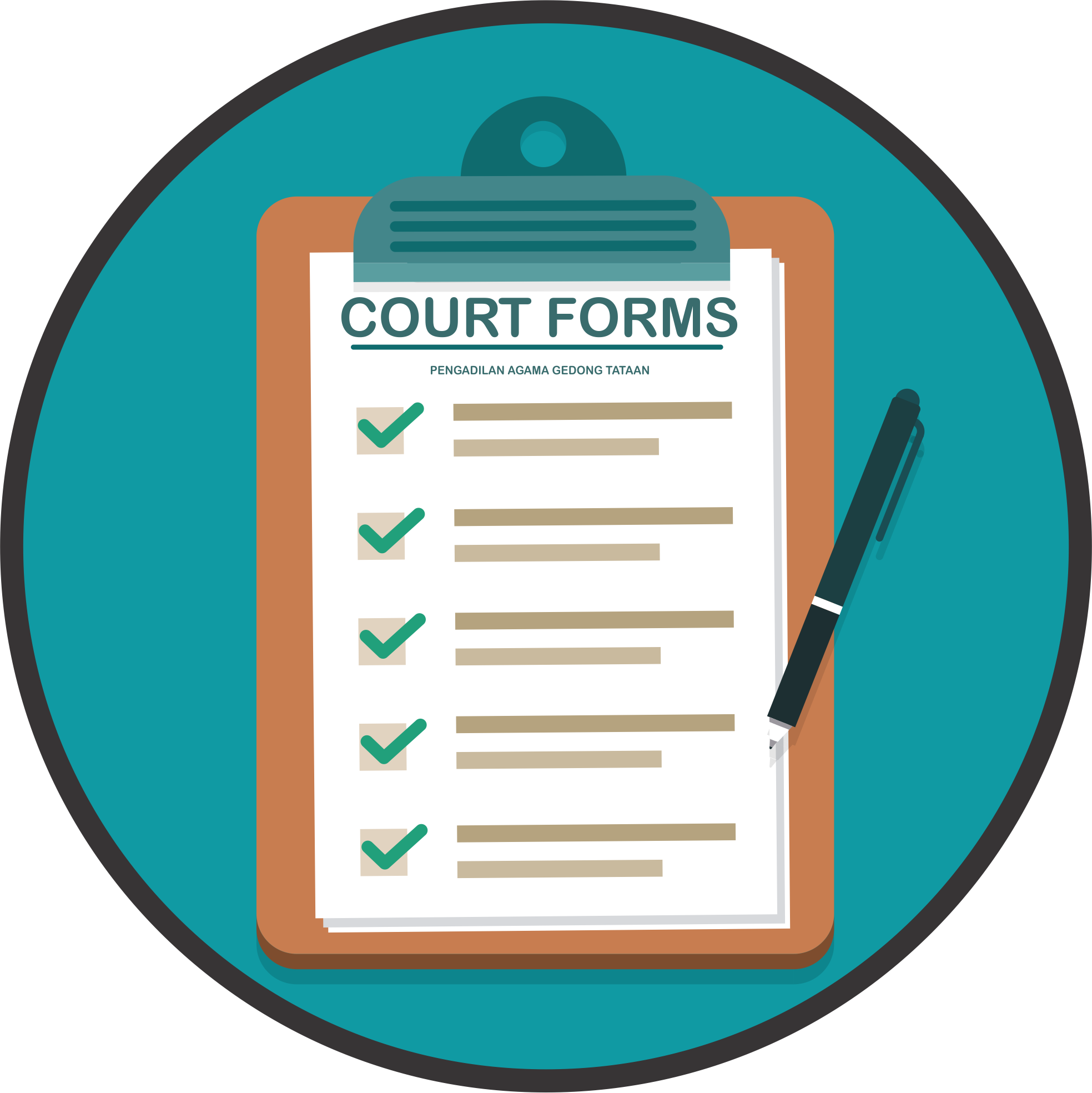 flaticon COURT FORM